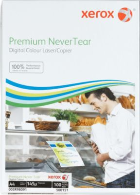 Xerox Premium NeverTear, wit, mat, 145 micron, 100 vel