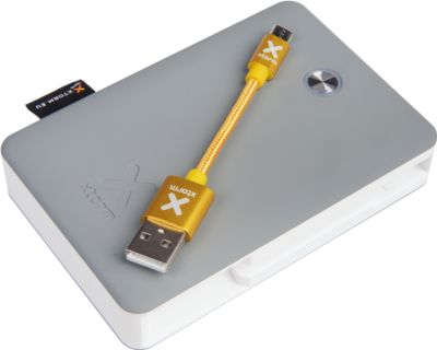 Xtorm Power Bank Explore, 10.000 mAh, herausnehmbares Micro USB Kabel