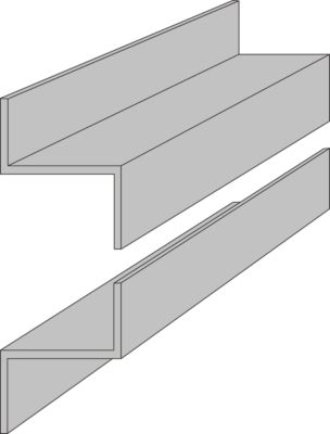 Z-profielrails, 1000 mm lang