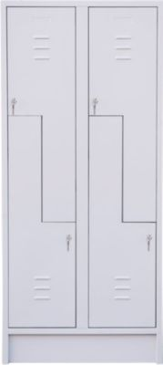 Z-Schrank, mit 4 Abteilen, Drehriegelschloss