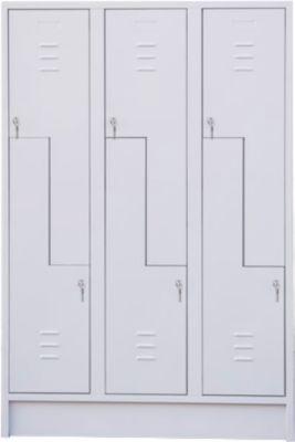 Z-Schrank, mit 6 Abteilen, Drehriegelschloss