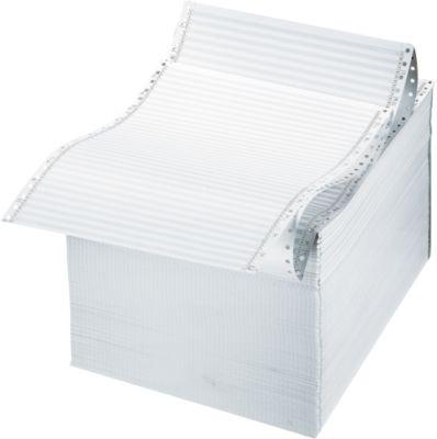 Zebra Endlos-Papier, A4 hoch, 1fach, weiß, 2000 Bl.