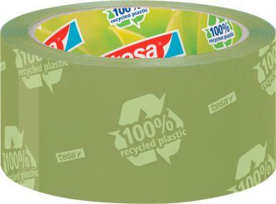 Zelfklevende tape Pakket zelfklevende tape tesapack® Eco & Strong, 6 rollen, groen (bedrukt)