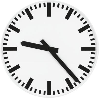 Zendergestuurde klok, wijzerplaat met tijdstrepen