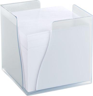 Zettelbox Wave, Kunststoff, 820 Blatt, transparent-gefrostet