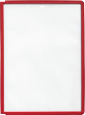 Zichtborden A4, 5 stuks, rood