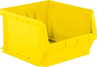 Zichtmagazijnbak LF 543, kunststof, 57 l, geel