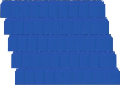 Zichttassen (A), A6 liggend, blauw, 50 st.