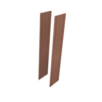 Zijpanelen hoog, 2 st., h 2140 x b 30 x d 430 mm, noten canaletto-decor