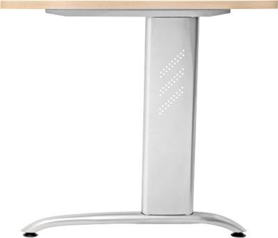 Zijpanelen TARA, 2 stuks, omvattend, voor bureaulijstjes, wit aluminium