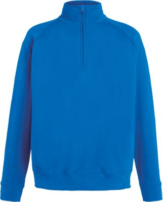Zip-Neck Sweat, royal, L