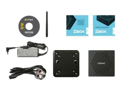 ZOTAC ZBOX nano CI327 - Mini-PC - Celeron N3450 1.1 GHz - 4 GB - 32 GB