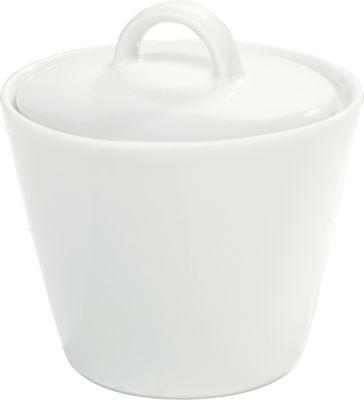 Zuckerdose Solea, mit Deckel, uni, weiß, Porzellan