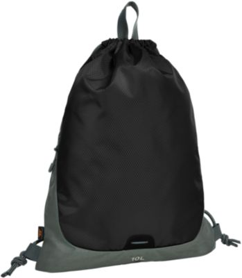 Zugbeutel STEP, Volumen 10 L, Reflektorstreifen, Werbedruck max. 2-farbig, black