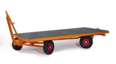 Zware aanhanger, 2-assige draaischamelbesturing, massief rubberen banden, draagvermogen 2000 kg, 2500 x 1250 mm.