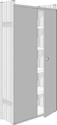 Zweiflügel-Tür für System R 3000/4000, für Feldbreite 1283 mm