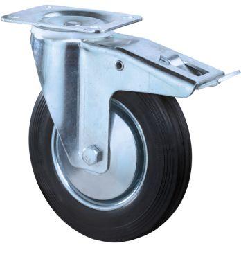 zwenkwiel, met vastzetter, h 100 mm, draagvermogen 50 kg
