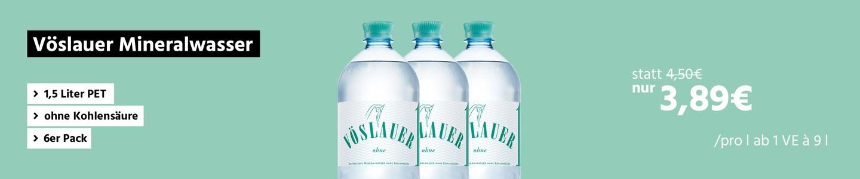 Vöslauer Mineralwasser, 1,5 Liter PET, ohne Kohlensäure, 6er Pack