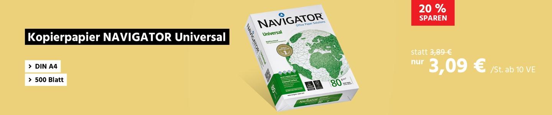 Kopierpapier NAVIGATOR Universal, DIN A4, 500 Blatt