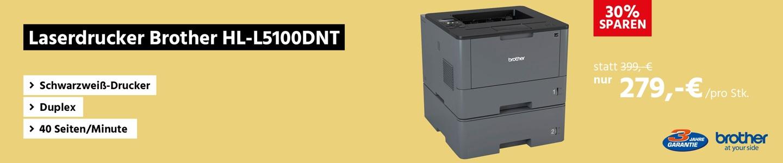 Laserdrucker Brother HL-L5100DNT, Schwarzweiß-Drucker, Duplex, 40 Seiten/Minute