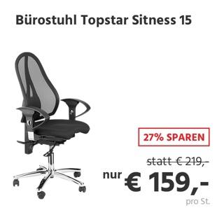 Topstar Bürostuhl SITNESS 15, mit Armlehnen, 3D-Permanentkontakt-Mechanik, Fitness-Orthositz, Netzrücken, schwarz/chromsilber