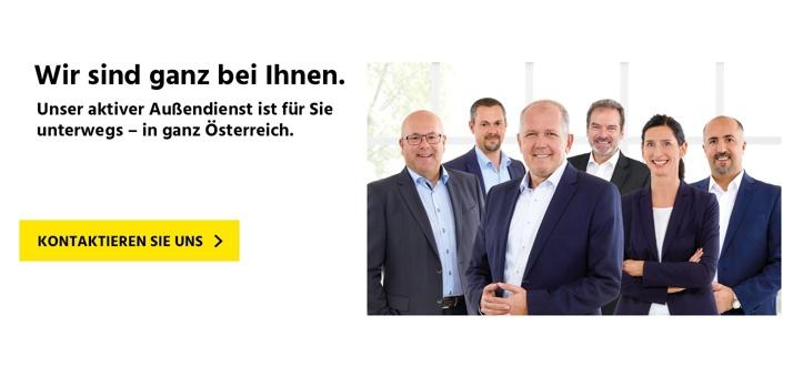 Das Außendienst-Team für Österreich