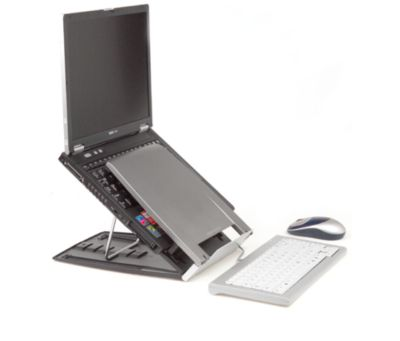 BakkerElkhuizen Laptophalter Ergo-Q 330, höhenverstellbar, bis 17 Zoll, f. unterwegs