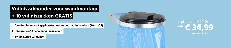 Verzinkte vuilniszakhouder + 10 vuilniszakken GRATIS