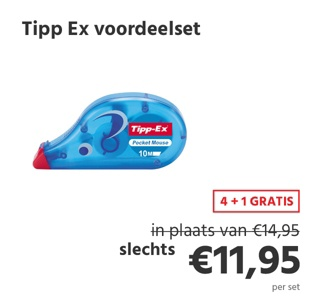 Tipp-Ex voordeelset