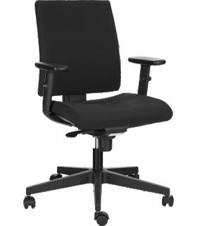 NowyStyl Intrata bureaustoel, met armleuningen, synchroonmechanisme, geprofileerde zitting, zwart
