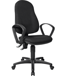 Point 600 bureaustoel, met armleuningen, synchroonmechanisme, voorgevormde zitting, zwart