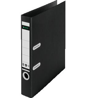 LEITZ® ordner Recycle, A4, 80 mm rug, 180° hefboommechanisme, rugetiket, 100% recyclebaar, zwart
