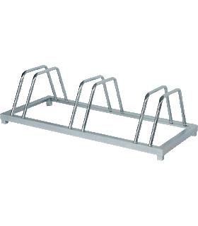 Fietsenrek, aan 2 zijden toegankelijk, voor banden tot 55 mm breed, met 3 parkeervakken, B 880 x D 390 x H 250 mm, gegalvaniseerd staal