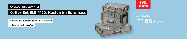 Koffer-Set ELB 4120, Kasten im Euromass