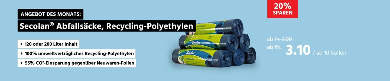 Secolan® Abfallsäcke, Material Recycling-Polyethylen