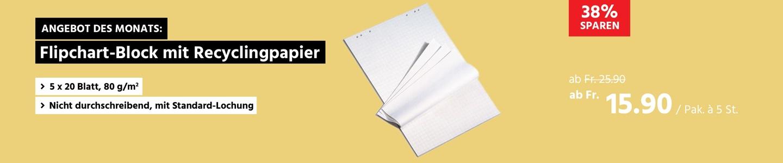 Flipchart-Block mit Recyclingpapier
