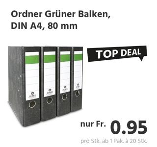 Aktenordner Grüner Balken