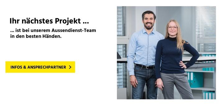 Das Aussendienst-Team für die Schweiz