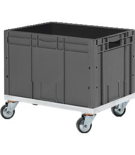 Euro Box Serie LTF 6320, PP, L 600 x B 400 x H 320 mm, 62,7 l, bis 30 kg, 10 Stück + gratis Kunststoff-Rollrahmen