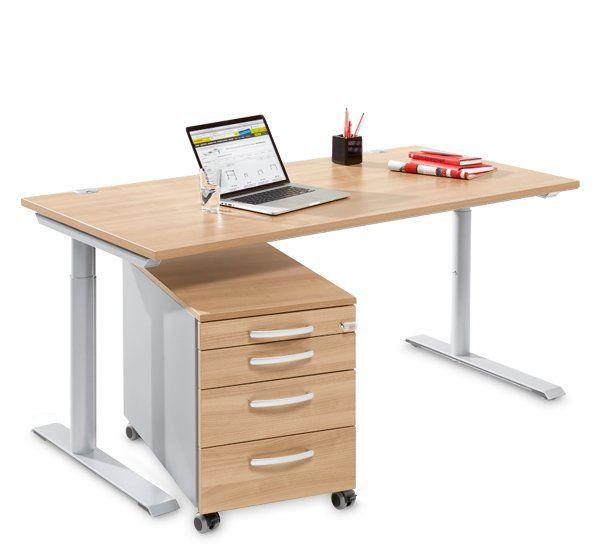 Ein Rollcontainer mit passendem Schreibtisch