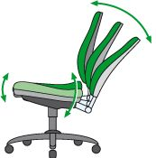 Bürostuhl mit Synchronmechanik