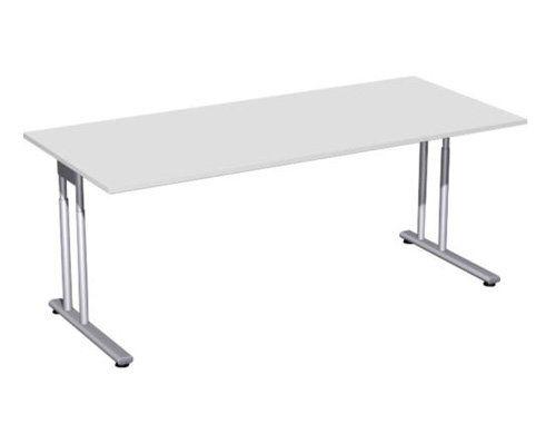 Schreibtisch mit regulierbarer Sitzhöhe