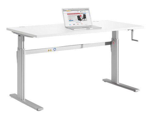 Mechanisch höhenverstellbarer Schreibtisch