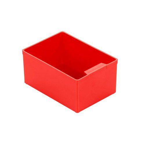 Einsatzkasten aus rotem Kunststoff