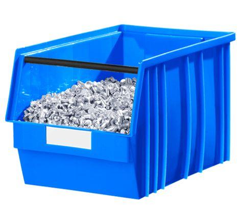 Sichtlagerkasten TF 14/7 aus blauem Kunststoff