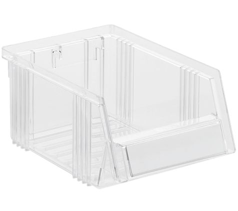 Sichtlagerkasten aus transparentem Polystyrol