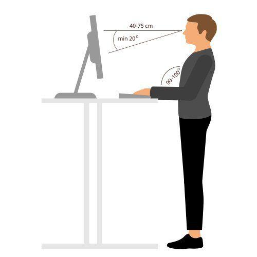 Grafik zum richtigen Stehen am Schreibtisch