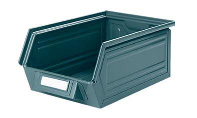 Sichtlagerkasten aus lackiertem Stahl