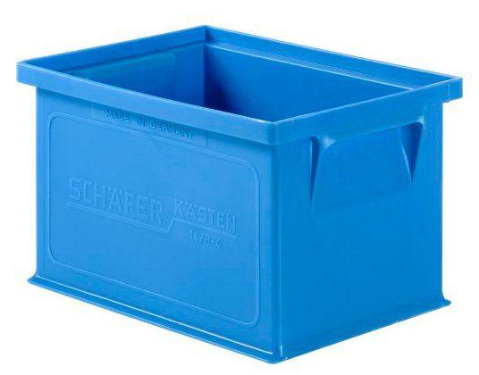 Stapelbox 14/6 aus blauem Kunststoff