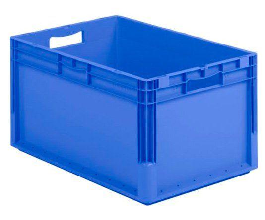 Blaue Eurobox aus Kunststoff